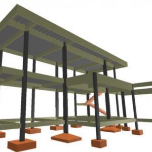 Projeto de estrutura de fundação em concreto do tipo radier